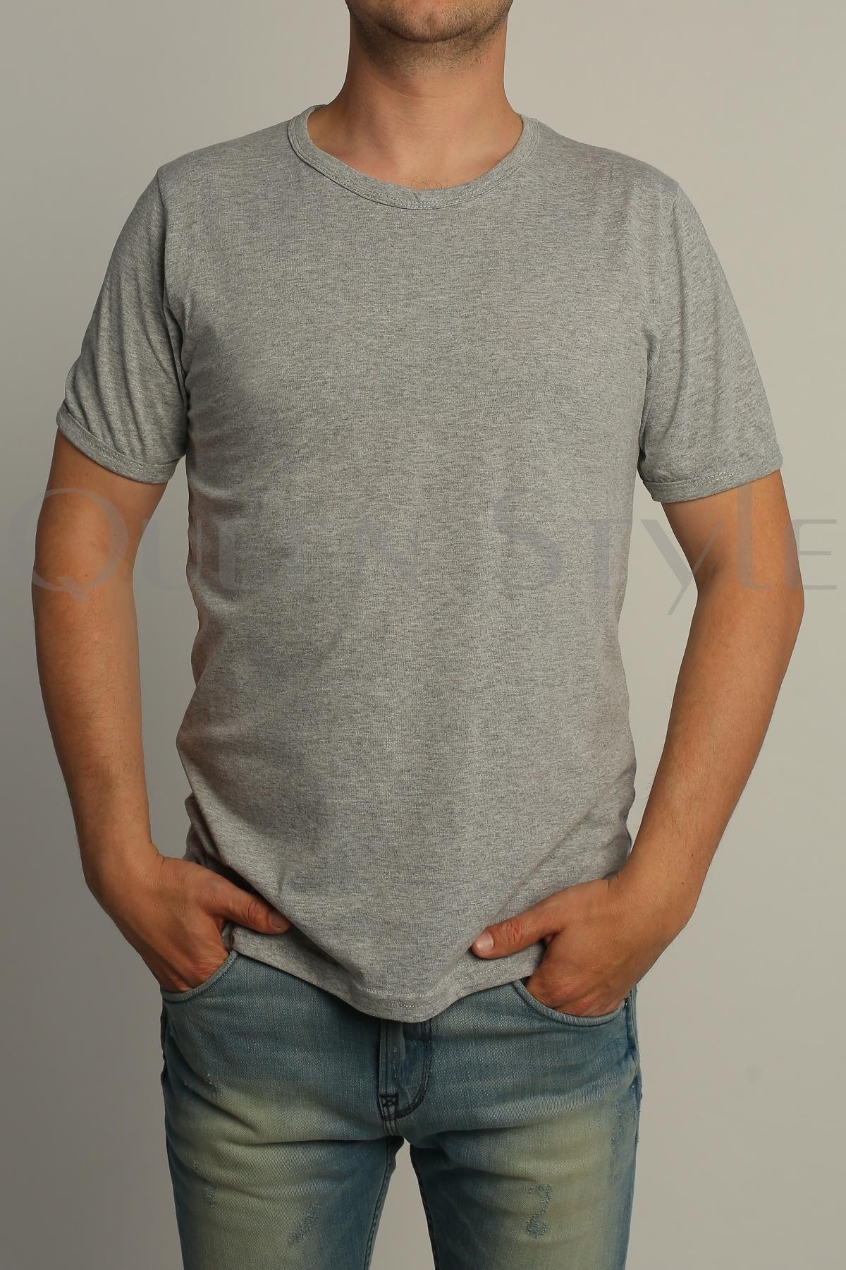 60b106fa33dcd Серая футболка мужская 54801 – купить оптом в Москве по низким ценам ...